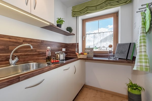 Foto della cucina living Puez apartments in the dolomites