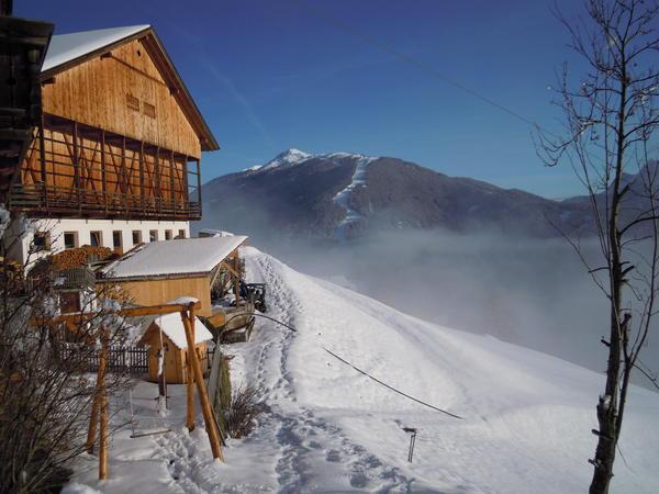 Foto esterno in inverno Kerschbaumhof