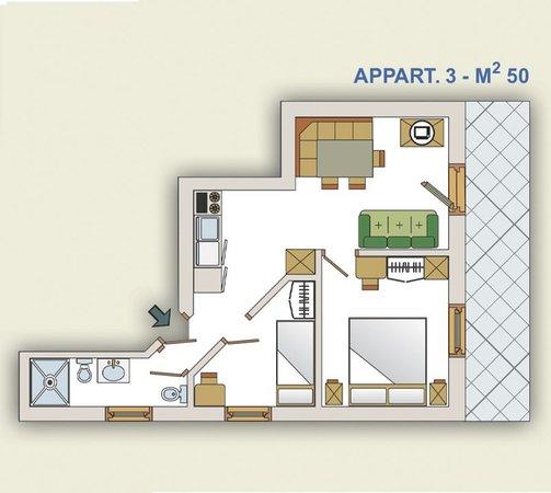 La planimetria Residence Elisa