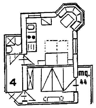 La planimetria Residence Villa Pinter