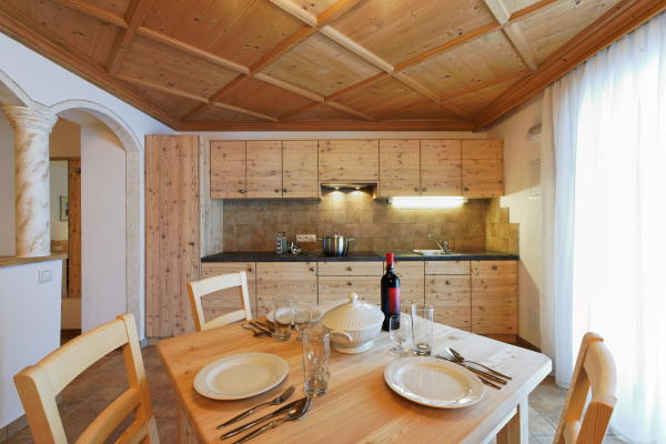 Foto della cucina Chalet La Flu