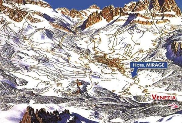 La posizione Hotel Mirage Cortina d'Ampezzo