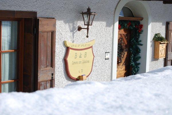 Foto invernale di presentazione Bed & Breakfast Oltres