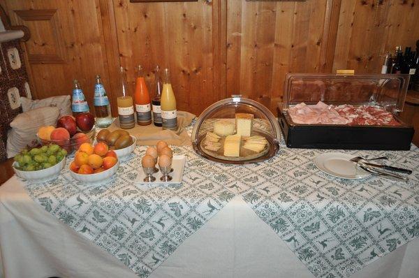 La colazione Baita Fraina - Camere private con prima colazione