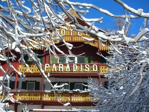 Foto esterno in inverno Parkhotel Sole Paradiso