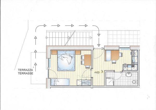 Der Grundrissplan Apartments Rit