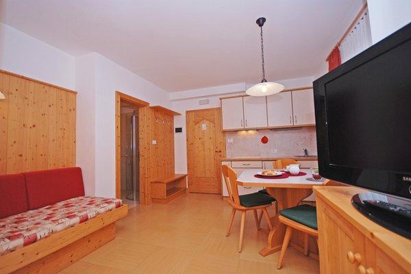 La zona giorno Garni + Residence Siebnerhof
