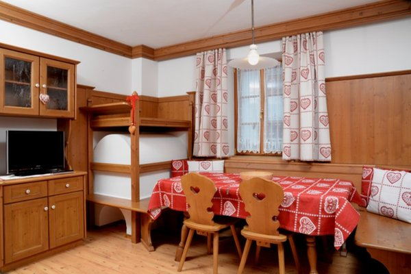 La zona giorno Appartamenti Pizach