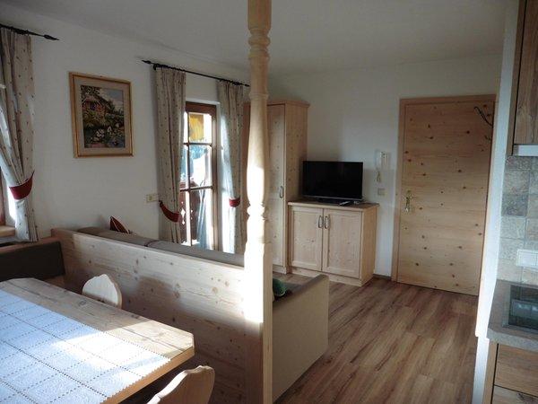 La zona giorno Lodnerhof - Appartamenti in agriturismo 2 fiori