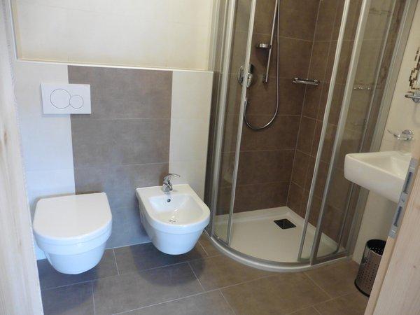 Foto del bagno Appartamenti in agriturismo Lodnerhof