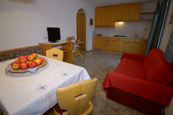 La zona giorno Appartamenti in agriturismo Marerhof