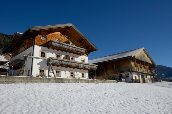 Foto invernale di presentazione Appartamenti in agriturismo Marerhof