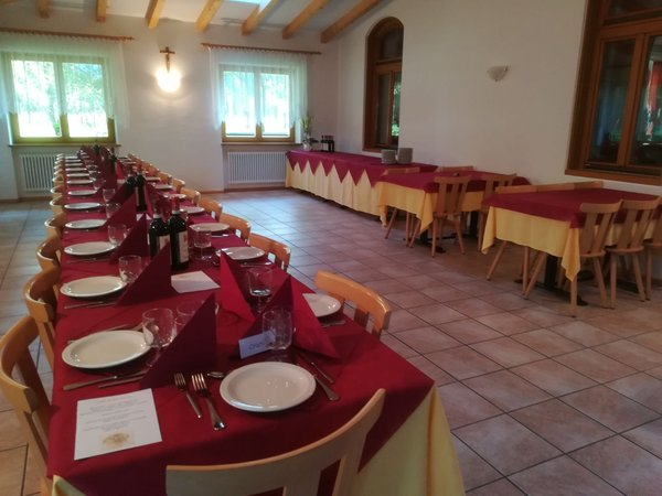 The restaurant Dobbiaco / Toblach Holiday house Europa