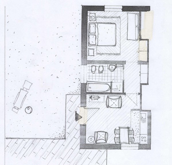 La planimetria Appartamenti Monteggia - Fronthaler