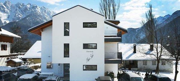 Foto esterno in inverno Villa Rienzner