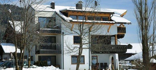 Foto invernale di presentazione Villa Rienzner - Appartamenti 3 soli