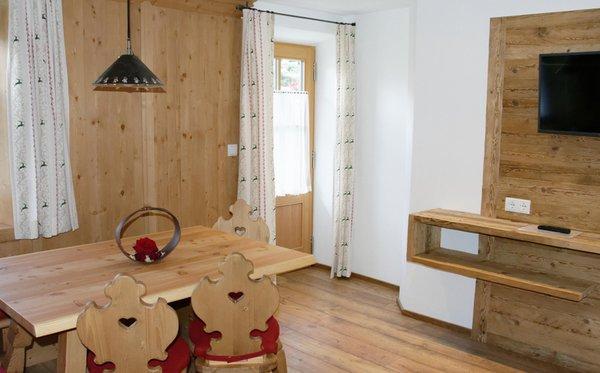 La zona giorno Hirschenhof - Appartamenti in agriturismo 3 fiori