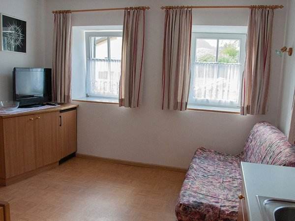 La zona giorno Friedlerhof - Appartamenti in agriturismo 2 fiori