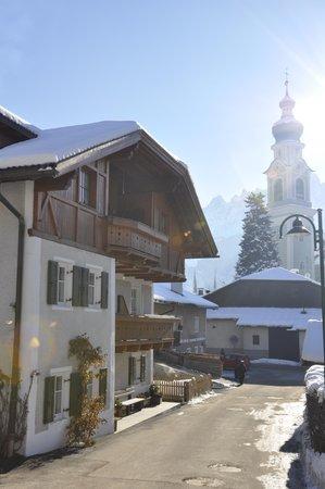 Foto invernale di presentazione Friedlerhof - Appartamenti in agriturismo 2 fiori