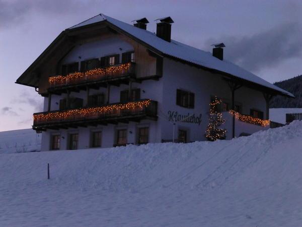 Foto esterno in inverno Klaudehof