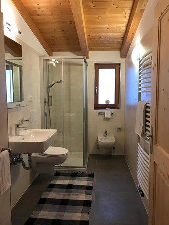 Foto del bagno Appartamenti in agriturismo Bergerhof