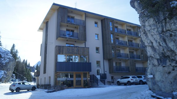 Photo exteriors in winter Boè Sports&Nature Hotel