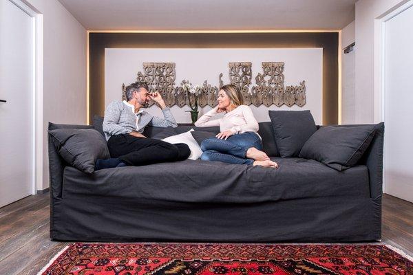 The living area Hotel Adler Suite & Stube
