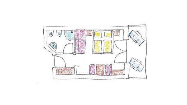 La planimetria Hotel Trenker