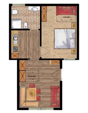 La planimetria Residence Apartments Costa Burjada