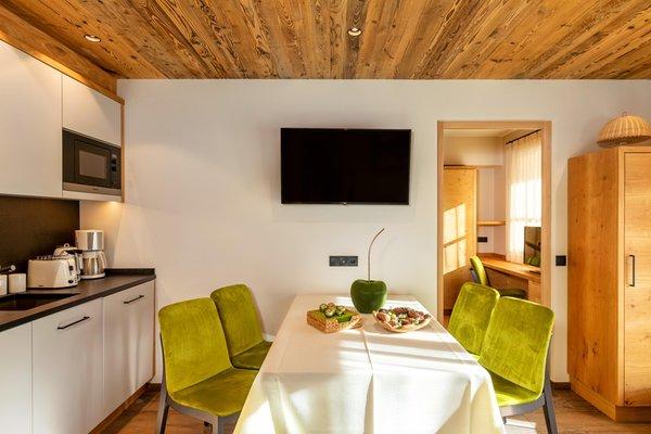 The living area Apartments La Villetta & Chalets 4 Sorus