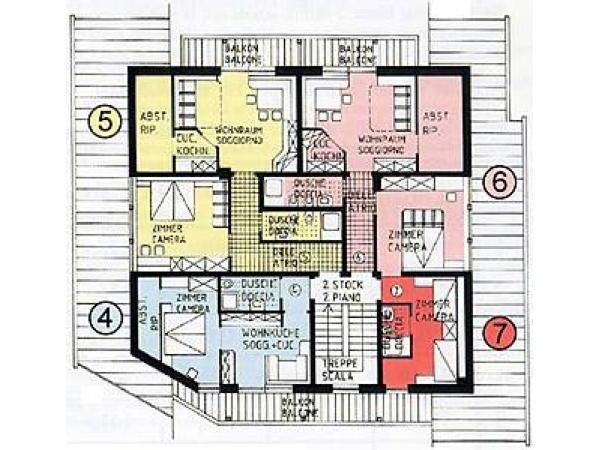 La planimetria Residence Floralp