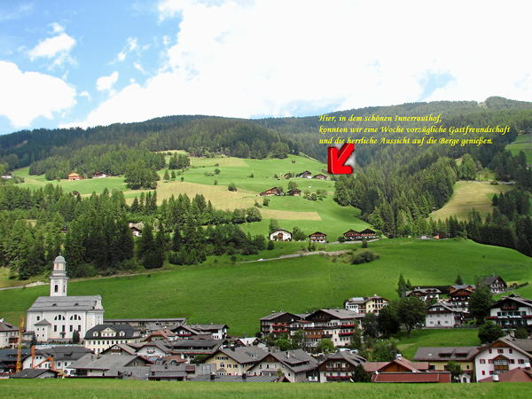 La posizione B&B in agriturismo Innerrauthof Sesto