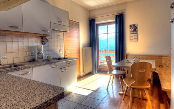 La zona giorno Appartamenti in agriturismo Montecinhof