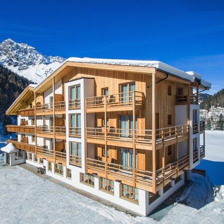 Foto invernale di presentazione Hotel Gertraud