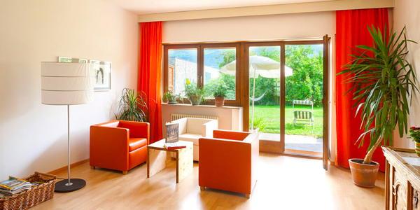 La zona giorno Residence Kortscherhof