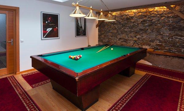 La sala giochi Appartamenti in agriturismo Fohlenhof