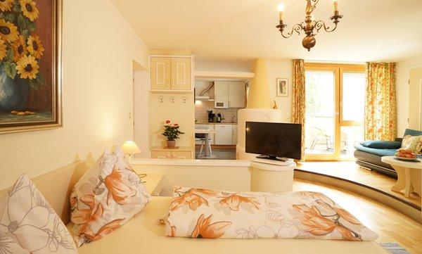 La zona giorno Fohlenhof - Appartamenti in agriturismo 4 fiori