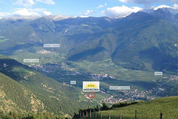 La posizione Garni-Hotel + Residence Obkircher Coldrano (Laces - Val Martello)