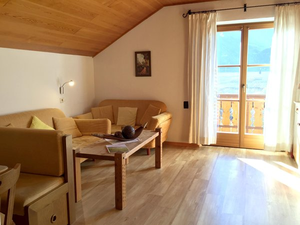 La zona giorno Garni-Hotel + Residence Obkircher