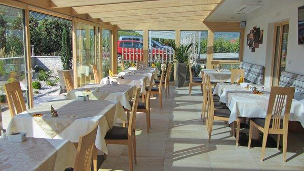 Il ristorante Laces Tannenhof