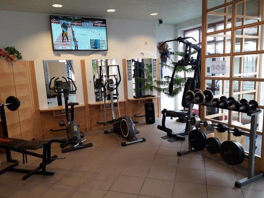 Foto della zona fitness Appartamenti Prieth