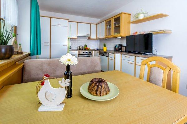 La zona giorno Appartamenti in agriturismo Kaschonhof