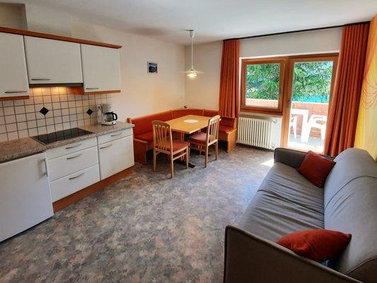 La zona giorno Appartamenti in agriturismo Spinhof