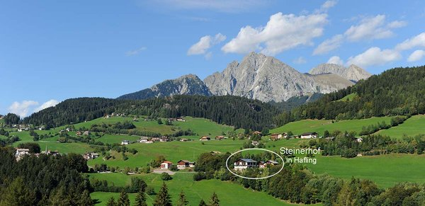 La posizione Camere + Appartamenti in agriturismo Steinerhof Avelengo