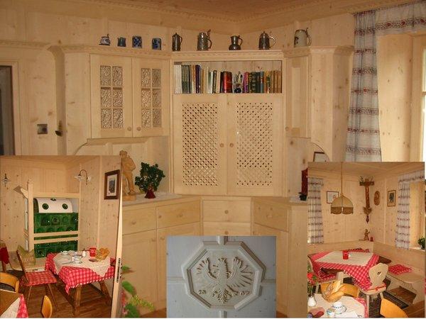 La zona giorno B&B + Appartamenti in agriturismo Steinerhof