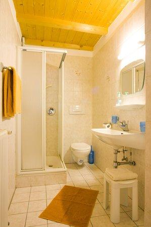 Foto del bagno Appartamenti in agriturismo Nusserhof