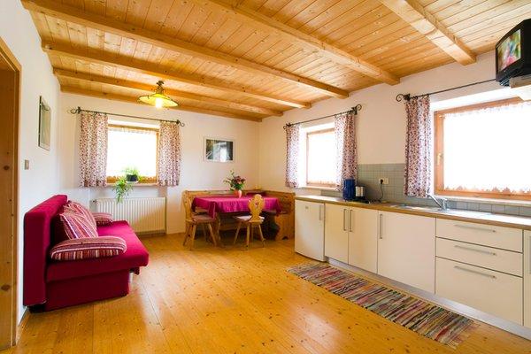 La zona giorno Appartamenti in agriturismo Nusserhof