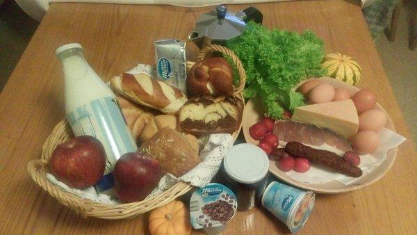 La colazione Appartamenti in agriturismo Moarhof