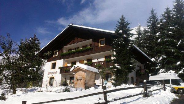 Foto invernale di presentazione Appartamenti in agriturismo Moarhof