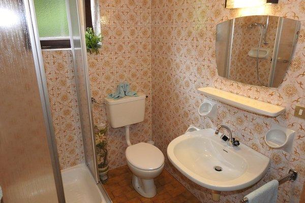 Foto del bagno Appartamenti in agriturismo Moarhof